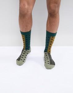 Носки с принтом Paul Smith - Зеленый