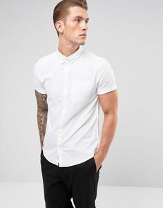 Белая оксфордская рубашка с короткими рукавами River Island - Белый