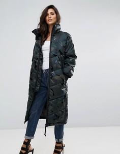 Дутая куртка с камуфляжным принтом G-Star Alaska - Зеленый