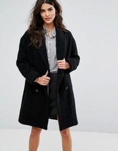 Свободное двубортное пальто BA&SH - Черный Ba&Sh