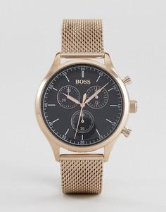 Золотисто-розовые часы с хронографом BOSS By Hugo Boss 1513548 Companion old - Золотой
