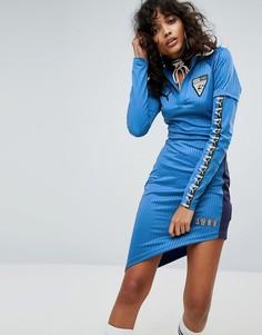 Асимметричное трикотажное платье Puma X Fenty - Зеленый