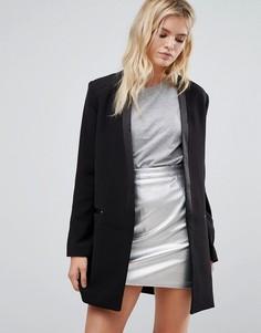 Строгое пальто-смокинг Pepe Jeans Dina - Черный