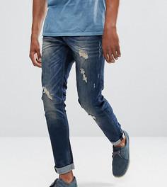 Рваные джинсы скинни Blend Echo - Темно-синий