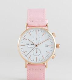 Часы 36 мм с хронографом и розовым парусиновым ремешком Reclaimed Vintage Inspired эксклюзивно для ASOS - Розовый
