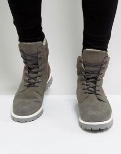 Замшевые ботинки на шнуровке Zign - Серый