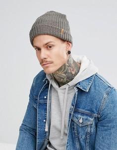 Серая меланжевая шапка-бини Fjallraven Ovik - Серый