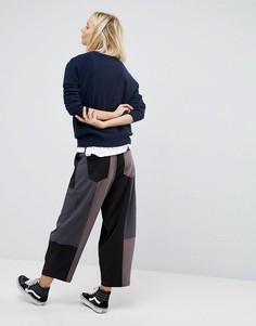 Лоскутные брюки ASOS WHITE - Серый