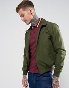 Куртка Харрингтон оливкового цвета Fred Perry REISSUES - Зеленый