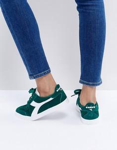 Зеленые кроссовки Diadora B.Original - Зеленый