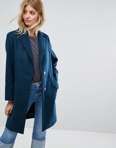 Строгое пальто New Look - Зеленый