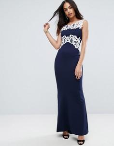 Платье макси с кружевной отделкой Jessica Wright - Черный