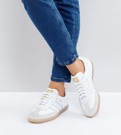 Белые фактурные кроссовки adidas Originals Samba - Белый
