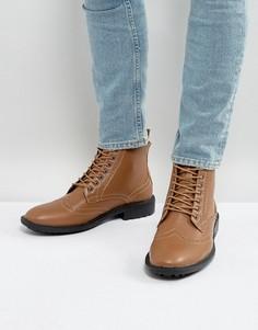 Светло-коричневые ботинки-броги Brave Soul - Рыжий