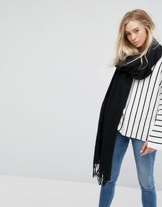 Мягкий шарф Weekday - Черный