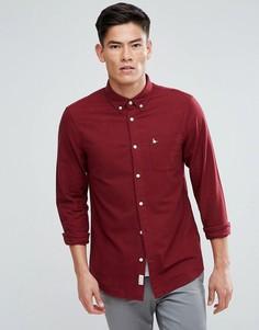 Оксфордская рубашка классического кроя с начесом Jack Wills Wadsworth - Красный