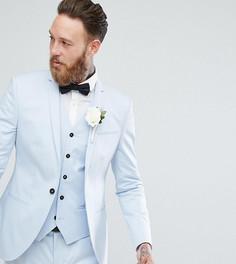 Голубой приталенный пиджак Noak Wedding - Синий