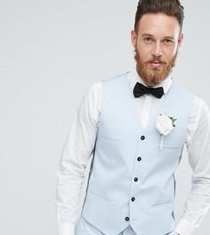 Голубой приталенный жилет Noak Wedding - Синий