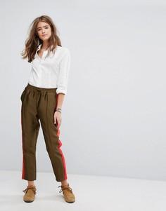 Спортивные штаны с контрастными вставками по боками Maison Scotch - Мульти