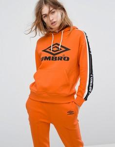 Худи без застежки с логотипом спереди Umbro - Оранжевый