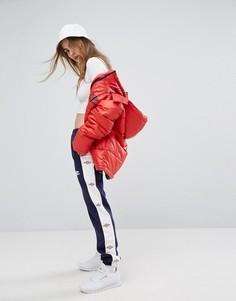Спортивные брюки с широкими штанинами и логотипом Umbro - Темно-синий