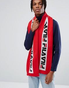 Красный шарф с логотипом Fila - Красный