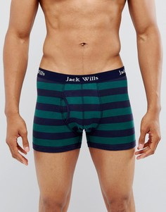 Боксеры-брифы в полоску темно-синего и зеленого цвета Jack Wills Bridgenorth - Темно-синий