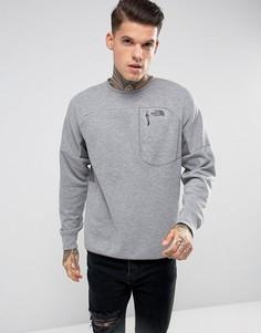 Серый меланжевый эластичный свитшот в спортивном стиле The North Face Slacker - Серый