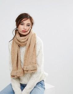 Oversize-шарф с оборками Willow and Paige - Бежевый