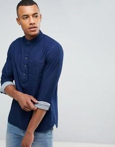 Рубашка с воротником с застежкой на пуговицах Celio - Синий