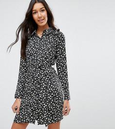 Платье-рубашка с цветочным принтом Influence Tall - Черный