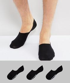 3 пары черных низких носков Nicce London - Белый