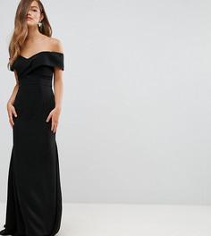 Платье макси с открытыми плечами Jarlo Petite - Черный