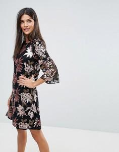 Платье с пайетками Closet - Мульти