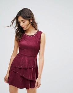Короткое приталенное платье Oeuvre - Красный