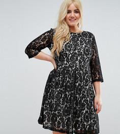 Короткое приталенное платье из кружева Praslin - Черный