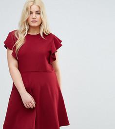 Платье с рукавами-рюш Praslin - Красный