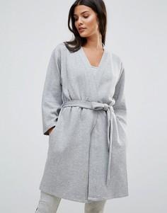 Стеганый халат Calvin Klein - Серый