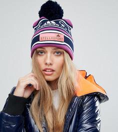 Шапка-бини с помпоном Adidas Stella Sport - Фиолетовый
