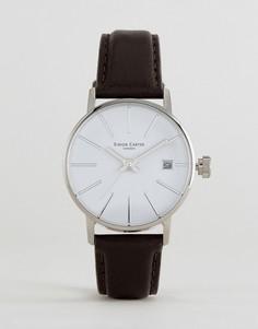 Черные часы с кожаным ремешком Simon Carter LT905 - Черный