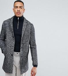 Пальто в крапинку с добавлением шерсти Selected Homme TALL - Черный
