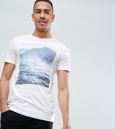 Футболка с принтом Selected Homme TALL - Белый