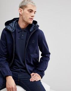 Темно-синяя хлопковая куртка с капюшоном Pretty Green Sevenoaks - Темно-синий