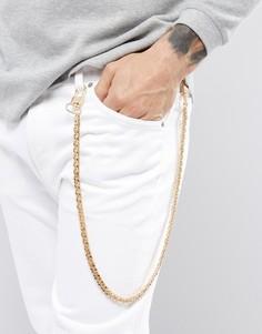 Золотистая цепочка на джинсы с крупными звеньями Chained & Able - Золотой