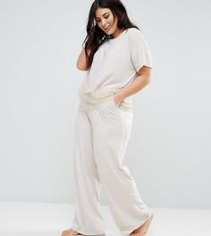 Кружевные пижамные джоггеры New Look Curve - Бежевый