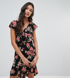 Платье с цветочным принтом и оборками Oh My Love Tall - Мульти