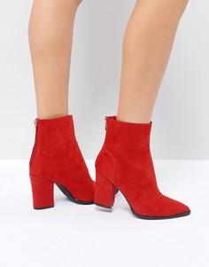 Ботинки в стиле вестерн на блочном каблуке River Island - Красный