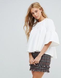 Блузка с рукавами клеш Closet - Белый