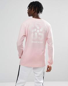 Розовый лонгслив с принтом на рукавах Sweet SKTBS - Розовый