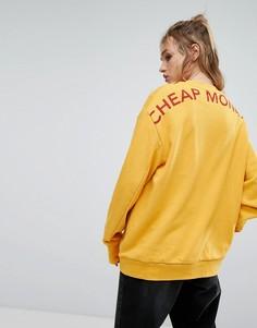 Свитшот с логотипом Cheap Monday - Желтый